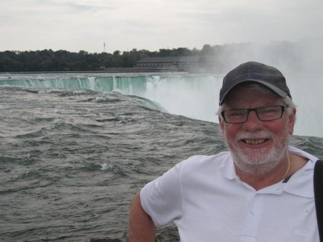 Hästskofallet vid Niagara från ovansidan