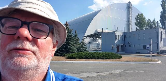 Tjernobyl 21 okt 2018. Sarkofagen Reaktor 4